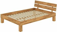 Französisches Bett Futonbett Doppelbett 140x200 Massivholzbett Buche natur Rollrost 60.86-14
