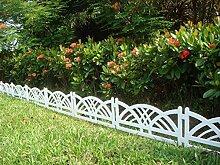 Französisches Flair im Garten mit diesem Zaun in weiß im Set zu 2,40 m Rasenkanten Beeteinfassung Palisade Beetumrandung Zierzaun Gartenzaun