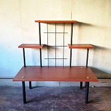 Französisches Vintage Holzregal