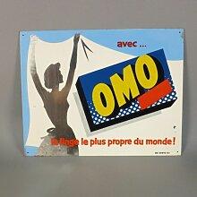 Französisches Vintage Waschmittel Blechschild,
