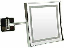 Frasco 99K30070 LED-Wandspiegel, 20x20 cm, 3-fach, Chrom