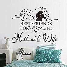 Frau Ehemann Hochzeit Aufkleber Schlafzimmer