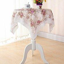 Frau Garten Rosen Runde Tischdecken Nachtschränke Handtuch Abdeckung Staubschutz Handtuch Kühlschrank,130*130cm
