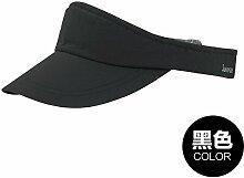 Frau Sommer Sport Baseball Caps Hüte leeren Hut outdoor Sonnenschutz hüte Visier Top, 55-60 cm verstellbar (Schwarz)