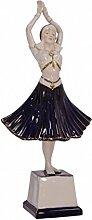 Frau Tanzt Hindu Porzellanfigur Wohndecko Accesoires Geschenkidee Handbemalt H: 41,7 cm