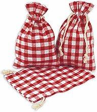 Frau WUNDERVoll® 12 Geschenksäckchen rot/weiß