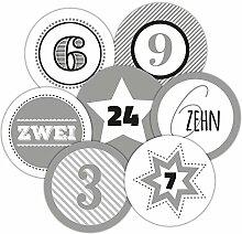 Frau WUNDERVoll® 24 Adventskalenderzahlen XL