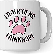 Frauchens Trinknapf - Tasse mit Pfote für