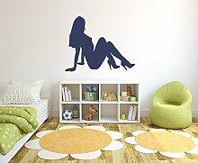 Frauen Silhouette Wandtattoo Format: 1200x950 mm_m Wandbild, Wandaufkleber, Wandsticker Dekoration für Wohnzimmer, Schlafzimmer und Kinderzimmer