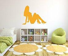 Frauen Silhouette Wandtattoo Format: 300x240 mm_a Wandbild, Wandaufkleber, Wandsticker Dekoration für Wohnzimmer, Schlafzimmer und Kinderzimmer