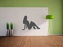 Frauen Silhouette Wandtattoo Format: 600x470 mm_d Wandbild, Wandaufkleber, Wandsticker Dekoration für Wohnzimmer, Schlafzimmer und Kinderzimmer