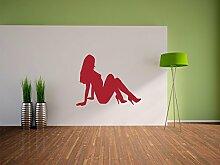 Frauen Silhouette Wandtattoo Format: 900x710 mm_i Wandbild, Wandaufkleber, Wandsticker Dekoration für Wohnzimmer, Schlafzimmer und Kinderzimmer