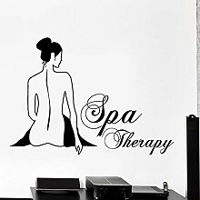Frauen Spa Massage Kunst Aufkleber Vinyl Fenster
