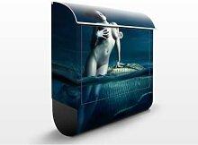 Frauenakt mit Fisch 39x46x13cm  Briefkasten, Standbriefkasten, Briefkästen, Wasser, Meer, Digital, Kunst, See