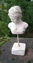 Frauenbüste, Statue, Frauenkopf, Kunstobjekt, Zement, auf Sockel