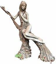 Frauenfigur Baumhüterin Buche Rosteffekt,