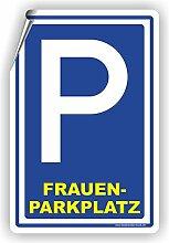 FRAUENPARKPLATZ - Parkplatzschild / D-007 (40x60cm Aufkleber)