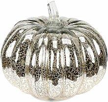 FRCOLOR Halloween Kürbislaterne LED Glas