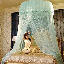 Freahap Moskitonetz Insektenschutz Mückenschutznetz für Einzel oder - Doppelbetten Blau