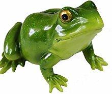 Frebeco24 Skulptur Frosch Figur Frosch Polyresin