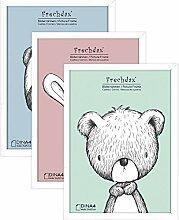 Frechdax® 3er Set Bilderrahmen 21x30 A4 Holz