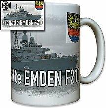 Fregatte Emden F210 deutsche Marine Schiff Wappen Abzeichen Emblem Foto - Tasse Becher Kaffee #8239