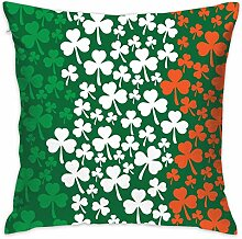 fregrthtg Ireland Flag Shamrock Pattern Decorative