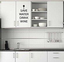 Frei Halten Wasser Getränk Wein Wandaufkleber Küche Aufkleber Neuheit Geschenk Für Sie Weinglas Geschenk - Violett Glänzend