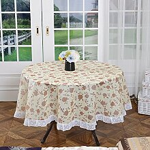 Freie Plastikspitze-Blumendruck 84-Zoll-runde Polyester Tischdecke