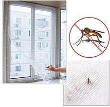FREILUFTRAUM Fliegengitter Insektenschutz Fenster ohne Bohren I Insektenschutznetz Fliegenschutz-Gitter Mückenschutz Fliegennetz Insektenschutzgitter I Moskitonetz für Fenster 150 x 200 cm, weiß