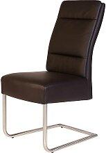 Freischwinger Stühle in Braun Kunstleder
