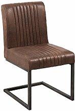 Freischwinger Stuhl BIG ASTON vintage braun