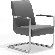 Freischwinger Stuhl in Dunkel Grau Armlehnen