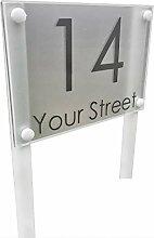 Freistehend Modern House Hausnummer Adresse Plaque
