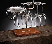 Freistehende Arbeitsplatte Weinglasregal Metall