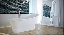 freistehende Badewanne aus Mineralguss 150x66x75