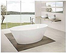 freistehende Badewanne aus Mineralguss 159,6x78x58