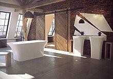 freistehende Badewanne aus Mineralguss 160x70x64