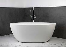 Freistehende Badewanne aus Mineralguss 160x74x60