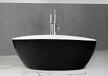 Freistehende Badewanne aus Mineralguss 170x77x62