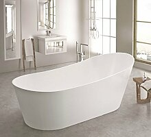 freistehende Badewanne aus Mineralguss 180x85x70