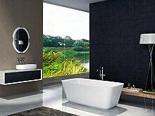 Freistehende Badewanne aus Mineralguss CUBE STONE