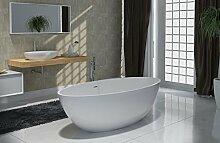 Freistehende Badewanne aus Mineralguss RIO STONE