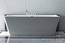 Freistehende Badewanne ERATO The North Bath 150x75 cm Vorwandbadewanne aus Acryl weiß