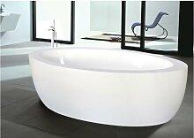 Freistehende Badewanne Marmara - 206 L - Weiß