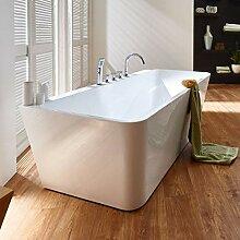Freistehende Badewanne mit Armatur weiß Modern