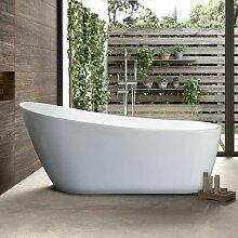 Freistehende Badewanne mit Hoher Rückenlehne