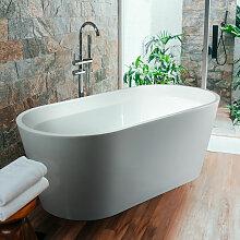 Freistehende Badewanne mit Ovalem Design aus Harz