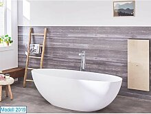 Freistehende Badewanne Piemont aus Mineralguss in