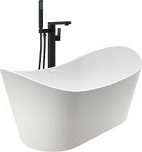 Freistehende Badewanne und Wasserhahn 204 L 90 cm